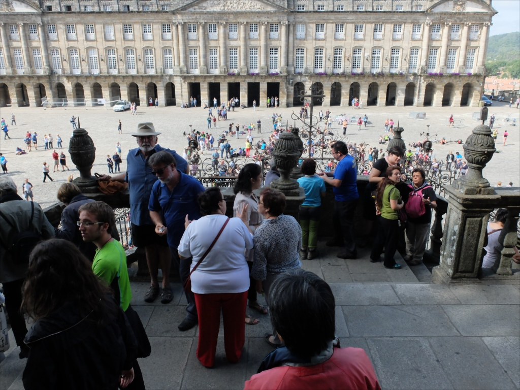 オブラドイロの門から広場を見下ろす_1