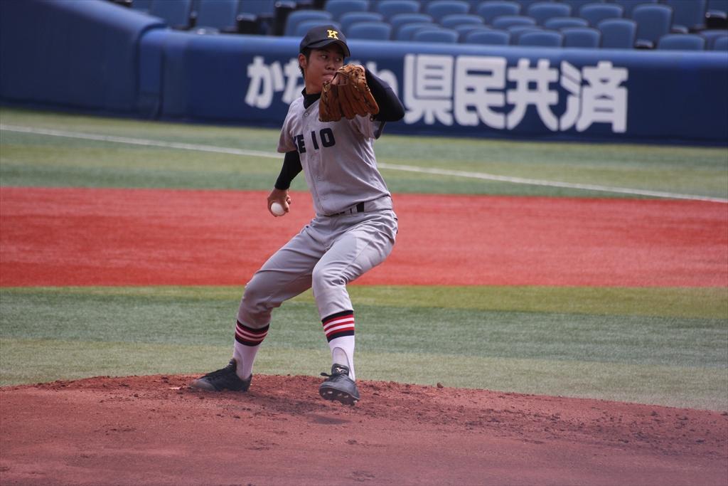 慶応先発高橋の投球フォーム_2