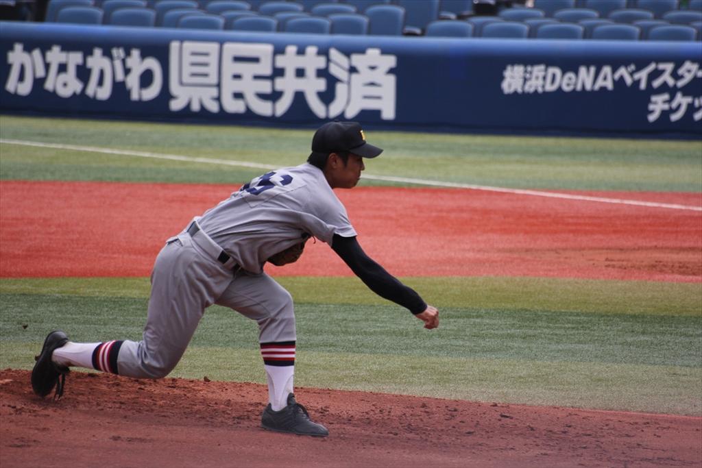 慶応先発高橋の投球フォーム_8