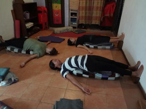 朝のヨガ(7月28日)  yoga in bali