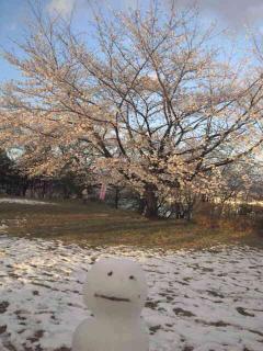 雪だるまin4月