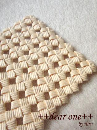 石畳編みのコースター130915_2