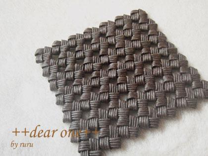 石畳編みのコースター130915_4