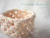 石畳編みのミニカゴ/クラフトテープ(2013/10/21)