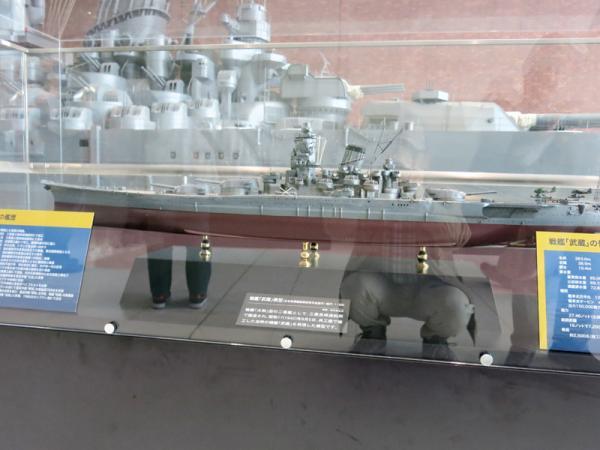 武蔵の模型と大和の模型