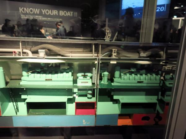 潜水艦機関部カットモデル