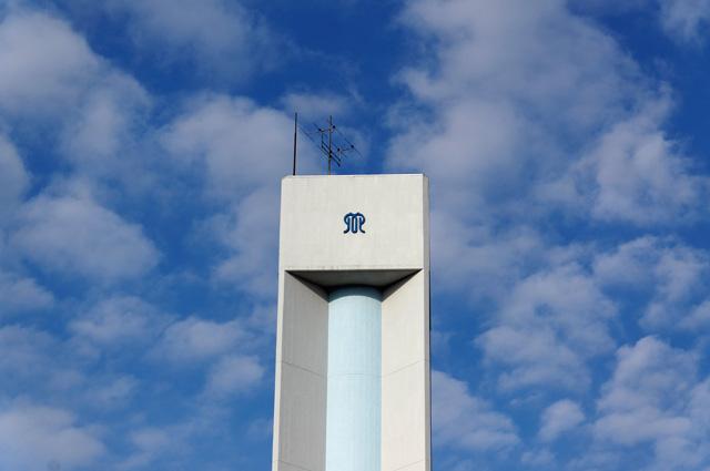 神奈川県営大庭団地給水塔の頂部