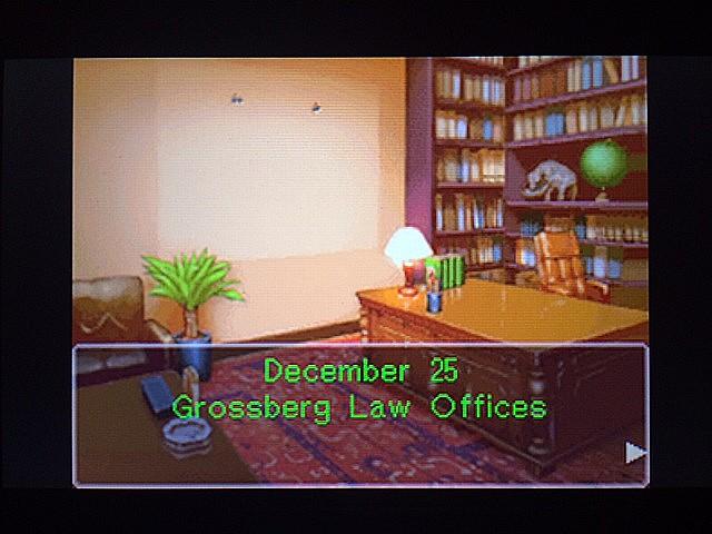 逆転裁判 北米版 グロスバーグ法律事務所、再訪1