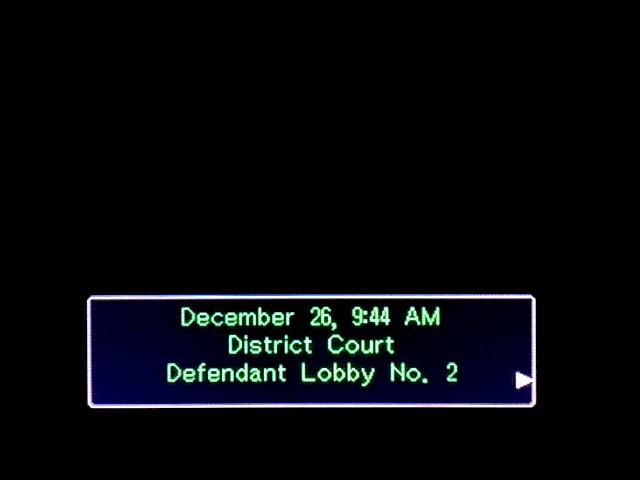 逆転裁判 北米版 審理前被告人控室1