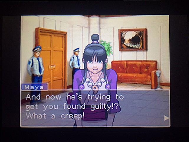 逆転裁判 北米版 審理前被告人控室17