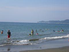 [写真]富津・上総湊海水浴場の様子