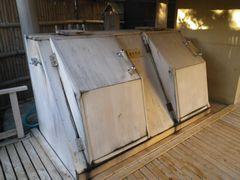 [写真]鴨川館・潮騒の湯の箱蒸風呂の様子