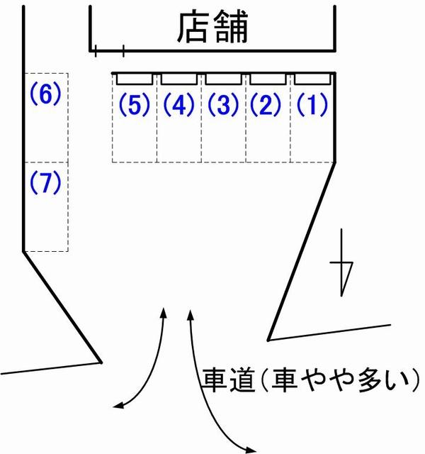 cafenana____s駐車場見取り図