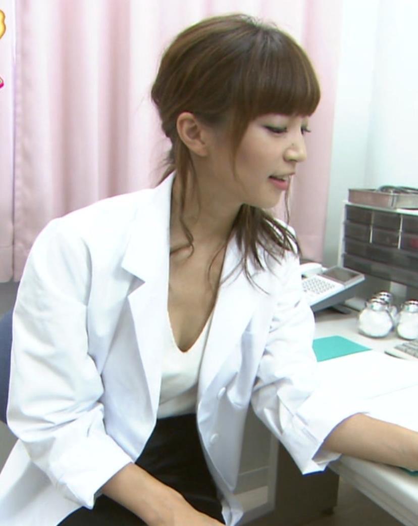 安田美沙子 エロ保健室の先生。谷間チラキャプ画像(エロ・アイコラ画像)