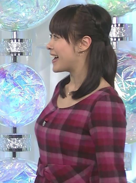 片山千恵子 横乳 (チェックのワンピース)キャプ画像(エロ・アイコラ画像)
