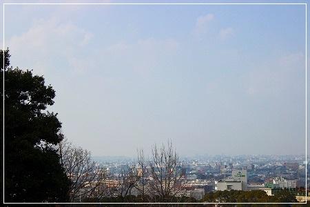 PM2.5のせいで、向こうのお山が全然見えましぇーーん!