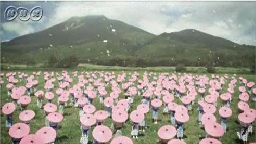 オープニング 磐梯山にて400人の小学生・・・