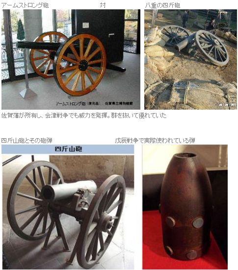 会津戦争で使われた大砲