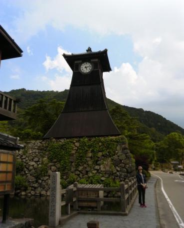 出石のシンボル 登城時刻を伝えた時計台 (昔は太鼓で時を知らせた)