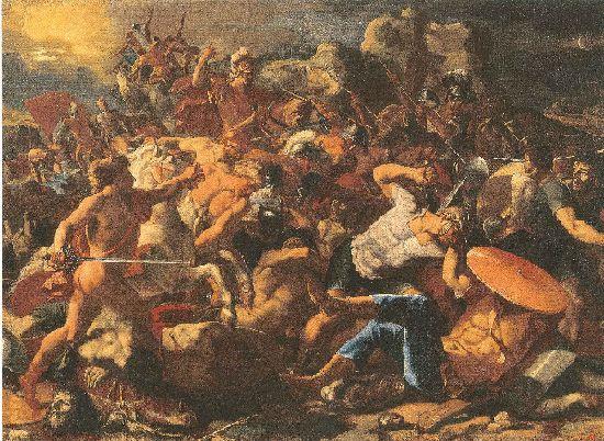 アモリ人を打ち破るヨシュア ニコラ・プッサン画