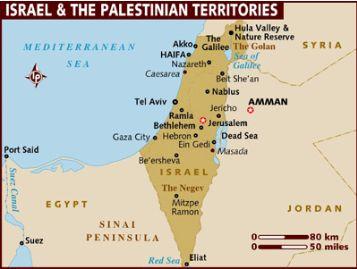 イスラエルとパレスチナ領土